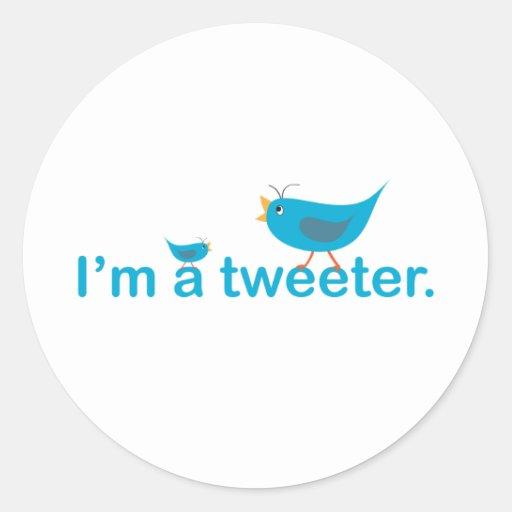 Tweeter Runder Sticker