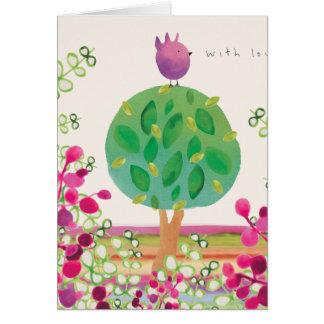 Tweeter-Garten Grußkarte