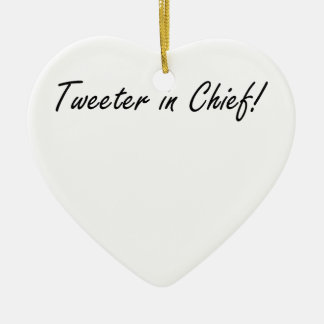 Tweeter im Leiter Keramik Ornament