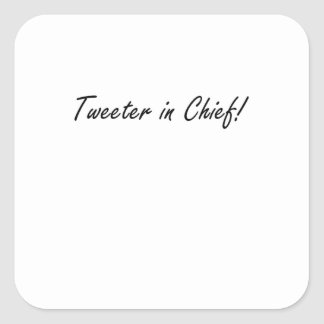 Tweeter im Leiter Quadratischer Aufkleber