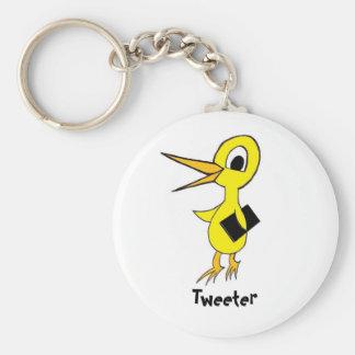 Tweeter Keychain Standard Runder Schlüsselanhänger