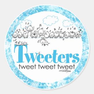 Tweeters tweeten - tweeten Sie - tweeten Aufkleber