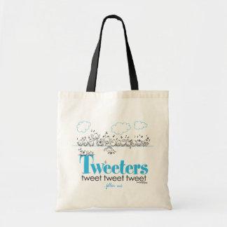 Tweeters tweeten - tweeten Sie - tweeten Tasche