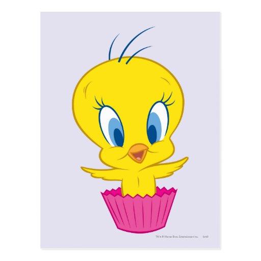 Tweety kleiner Kuchen Postkarte