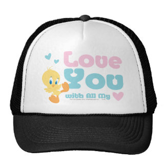 """Tweety """"Love You With All My Heart"""" Mesh Hats"""