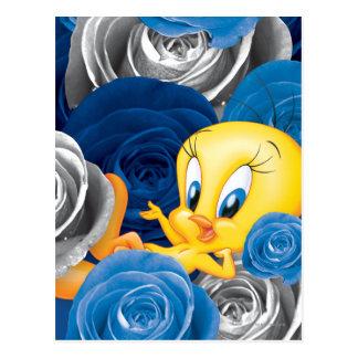 Tweety mit Rosen Postkarte