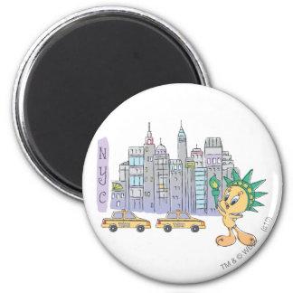 Tweety NYC Runder Magnet 5,7 Cm