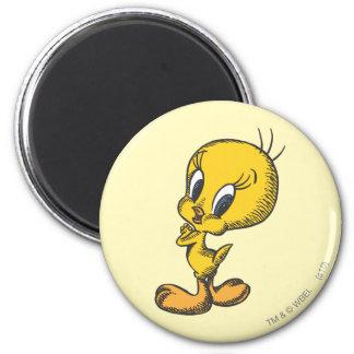 Tweety reizend runder magnet 5,1 cm