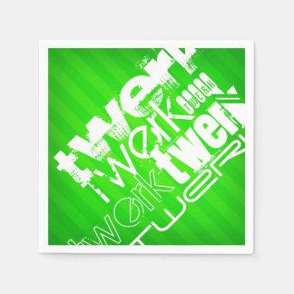 Twerk; Grüne Neonstreifen Papierserviette