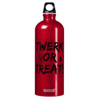 Twerk oder Leckerei für Halloween Aluminiumwasserflasche