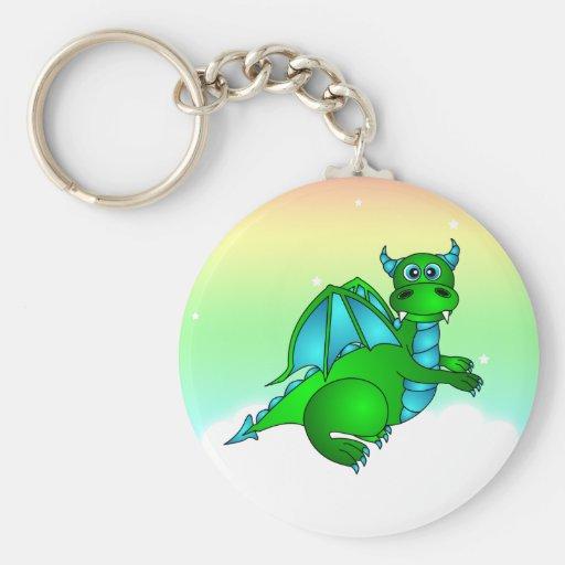 Twilight Flug - niedlicher grüner u. blauer Drache Schlüsselbänder
