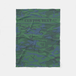 Twilight grüne Camouflage mit kundenspezifischem Fleecedecke