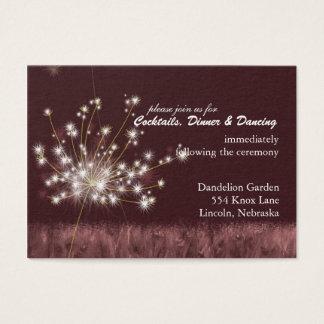 Twilight Löwenzahn-Hochzeits-Empfang Visitenkarte