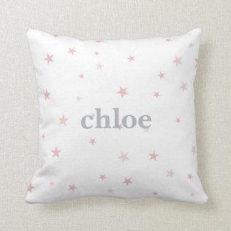 Twinkle wenig Stern-Rosa-Baby-Mädchen-Kinderzimmer Zierkissen