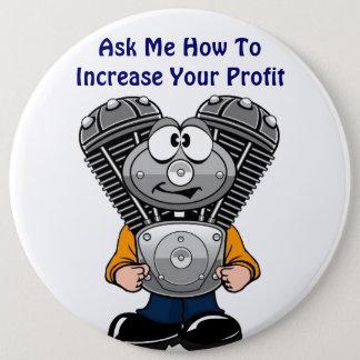 TWINNY fragen mich, wie man Ihren Gewinn erhöht Runder Button 15,3 Cm