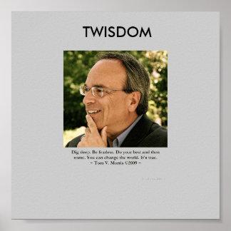 "Twisdom ""Änderung Plakat Welt"" Toms Morris"