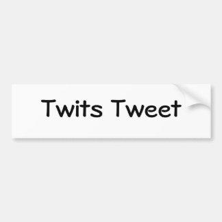 Twits tweeten autoaufkleber