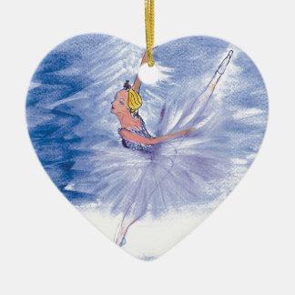 Twitt Schnee Königin-Nussknacker Ballett durch Keramik Herz-Ornament