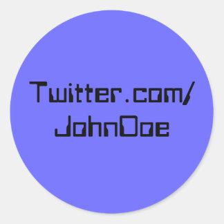 Twitter-Aufkleber-Blau Runder Aufkleber