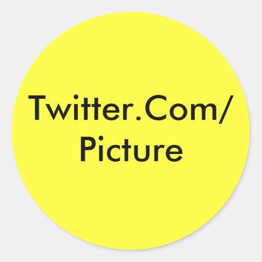 Twitter-Aufkleber-Gelb