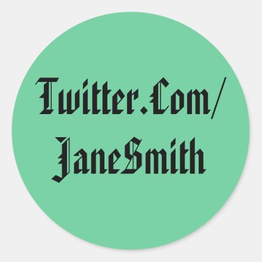 Twitter-Aufkleber-Grün