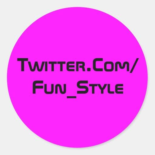 Twitter-Aufkleber lila