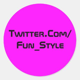 Twitter-Aufkleber lila Runder Aufkleber