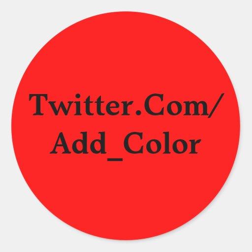 Twitter-Aufkleber-Rot