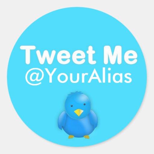 Twitter-Aufkleber: Tweete ich @YourAlias