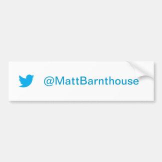 Twitter-Autoaufkleber Matts Barnthouse Autoaufkleber