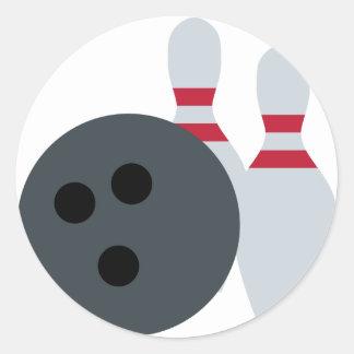 Twitter Emoji - Bowling Fans Runder Aufkleber