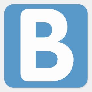 Twitter emoji - Letter B Quadrat-Aufkleber