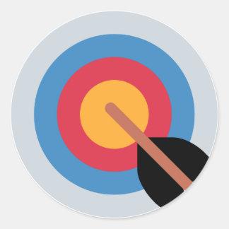 Twitter Emoticon - target archery Runder Aufkleber