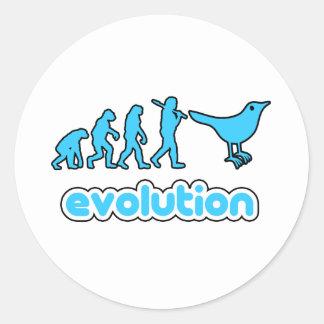 Twitter-Evolution Runder Aufkleber