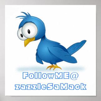 Twitter-Follow-me @ Ihr Benutzername Poster