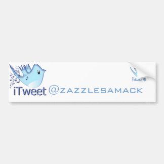 Twitter-Follow-meAutoaufkleber Autoaufkleber