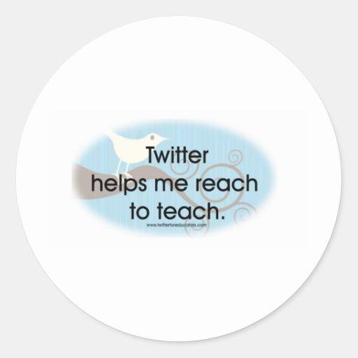 Twitter für Erzieher Runder Aufkleber