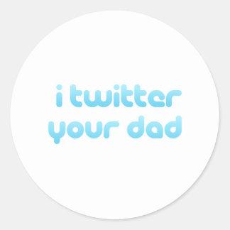 Twitter I Ihr Vati Runder Sticker