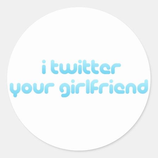 Twitter I Ihre Freundin Runder Aufkleber