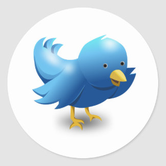 Twitter IBRD Logo Runder Aufkleber