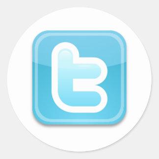 Twitter-ish! Runder Aufkleber