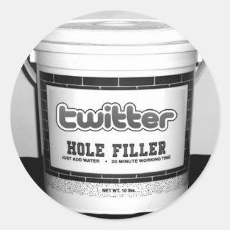 Twitter-Loch-Füller-Aufkleber Runder Aufkleber