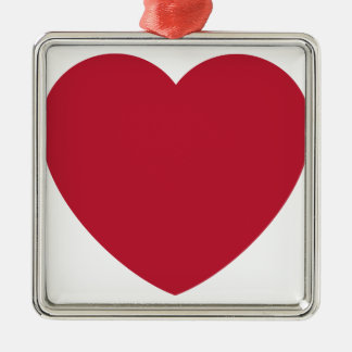 Twitter Love Heart Emoji Silbernes Ornament