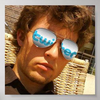 Twitter-Manie - Gläser R herein. Plakatdrucke