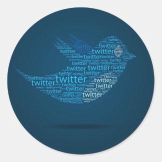 Twitter Roll Runde Aufkleber
