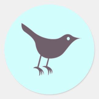 Twitter Runder Aufkleber