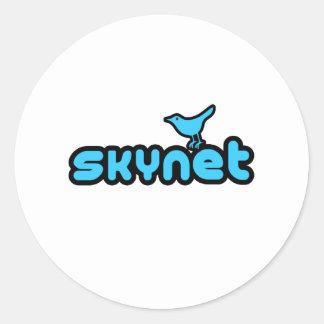 Twitter - Skynet Runder Aufkleber