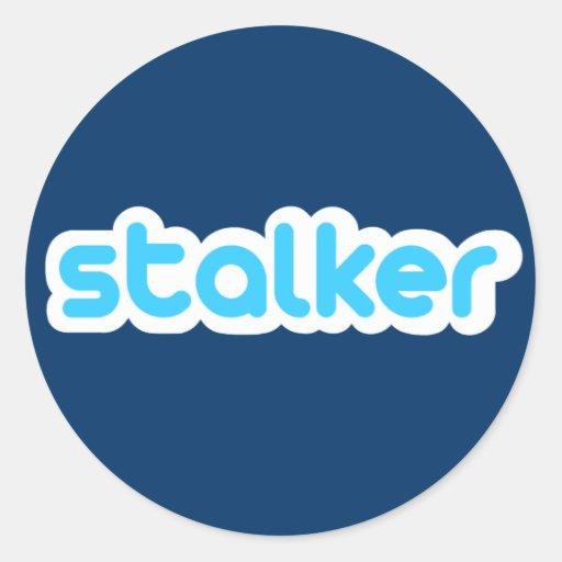 Twitter Stalker Runde Sticker