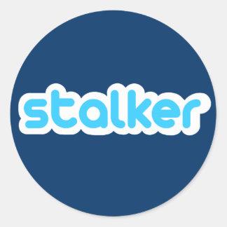 Twitter Stalker Runder Aufkleber