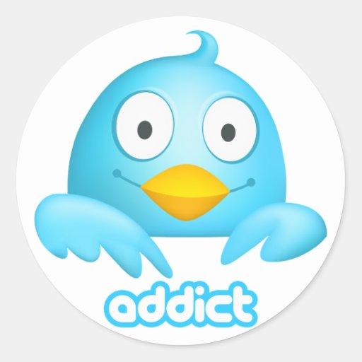 Twitter-Süchtig-Aufkleber